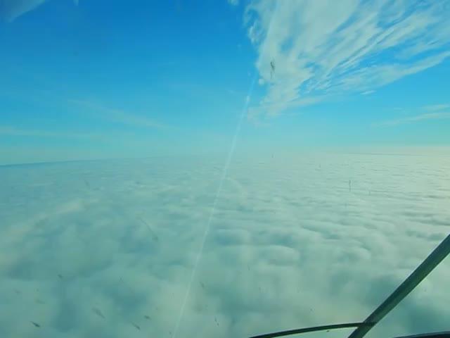 Посадка самолета в условиях густого тумана