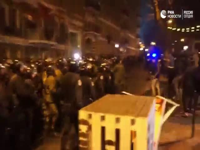 Столкновения болельщиков «Манчестер Юнайтед» и «Зари» в Одессе