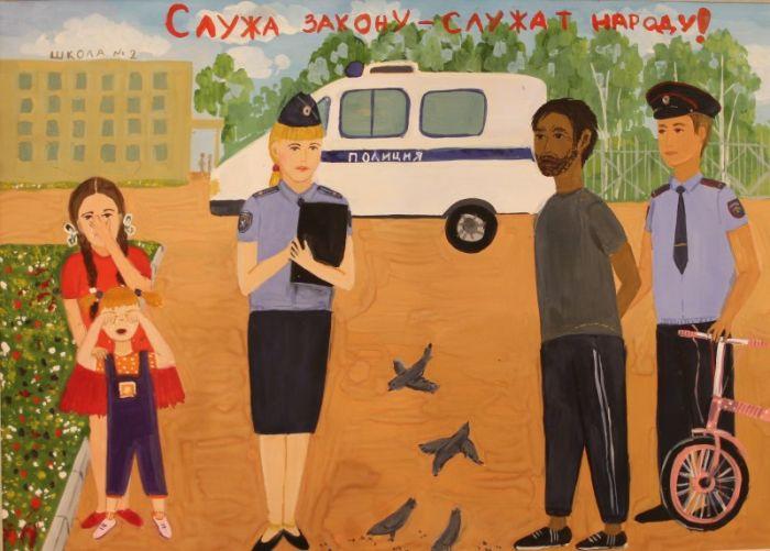 Лучшие работы детского конкурса «Мои родители работают в полиции!» (9 фото)