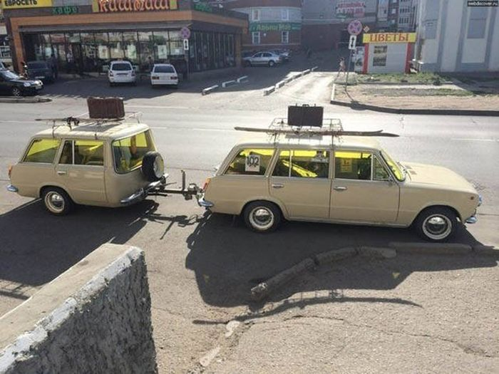 Фото, которые возможно было сделать только в России. Часть 49 (40 фото)