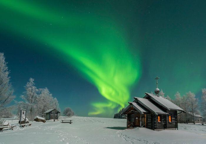Сказочная красота зимней Лапландии (35 фото)
