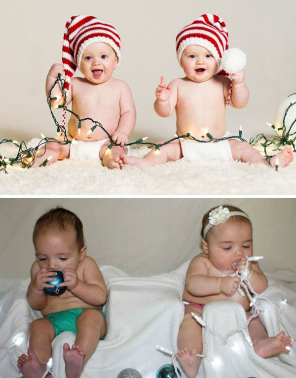 Рождественская фотосессия малышей: ожидания и реальность (19 фото)