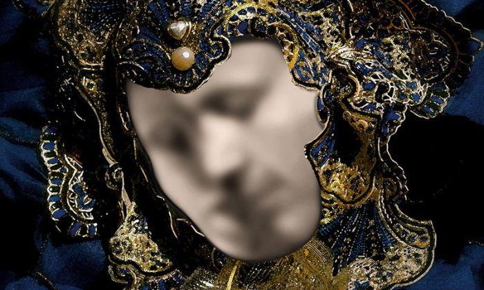 Оптическая иллюзия с изображением внутри маски (2 фото)