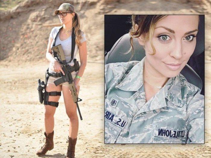 Американская военнослужащая Кариса Литтлджон, ставшая моделью (17 фото)