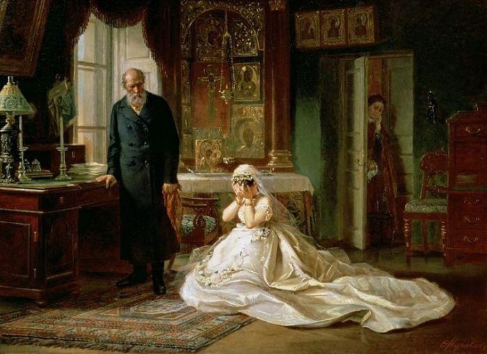«Неравный брак» Василия Пукирева - картина, на которую не советуют смотреть женихам в возрасте (8 фото)