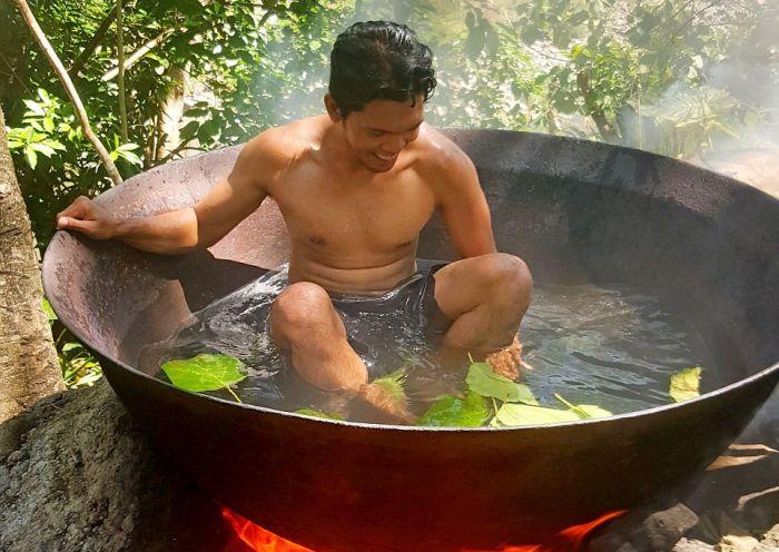 Ванна для тех, кто хочет быть ближе к природе (5 фото)