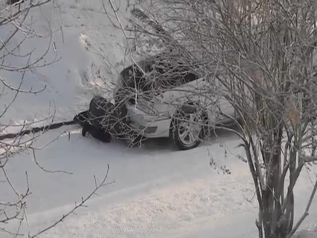 Прогрев двигателя во время сильных морозов