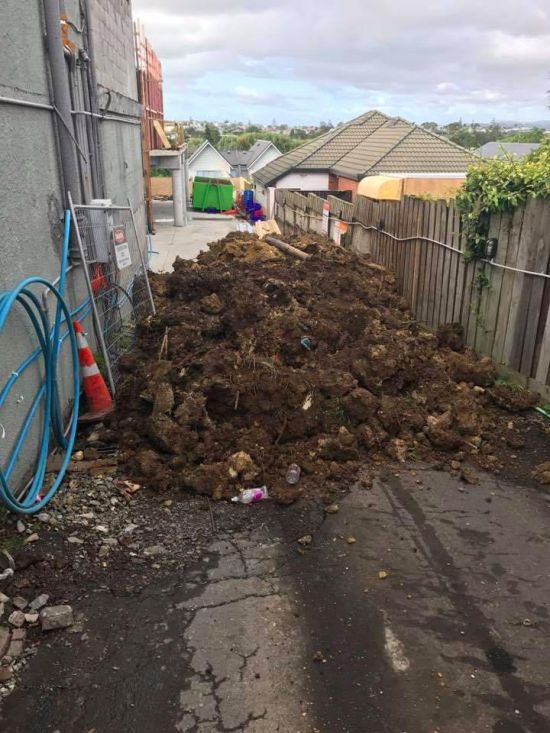 В Новой Зеландии бизнесмен завалил грязью кафе должника (3 фото)