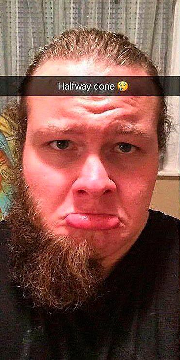 До и после бритья бороды (2 фото)