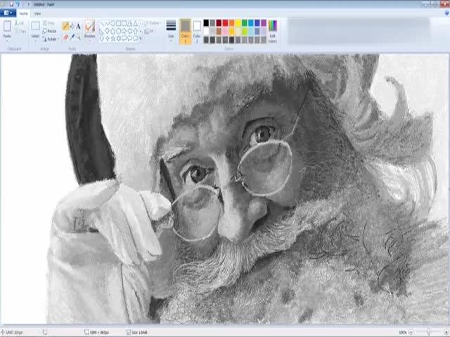 Создание реалистичного рисунка Санта-Клауса
