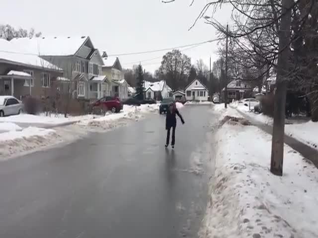 Онтарио превратился с огромный каток