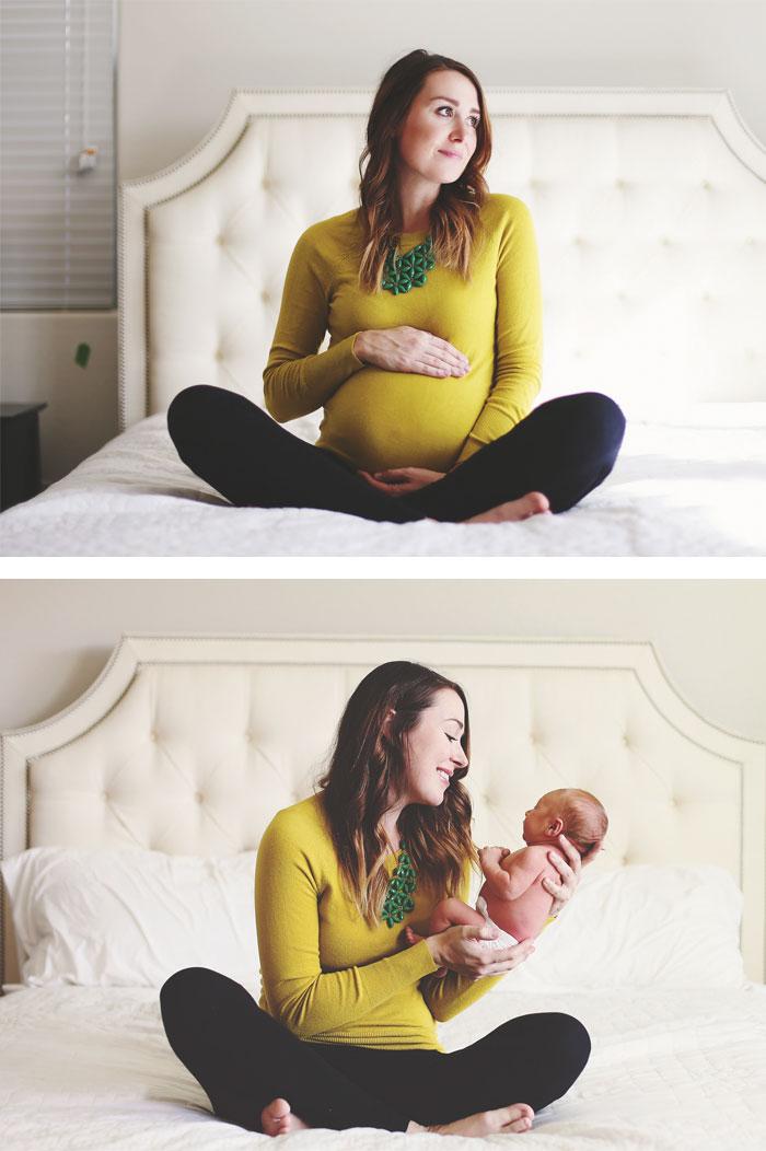 Прекрасные фото во время беременности и после нее (35 фото)