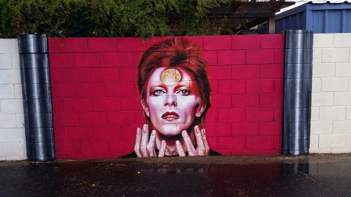 Стена памяти Дэвида Боуи в Аризоне (10 фото)