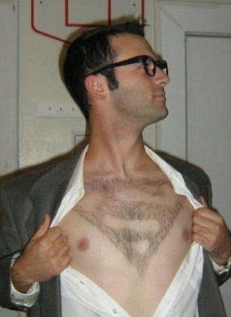 Парни экспериментируют со стрижками волос на груди (16 фото)