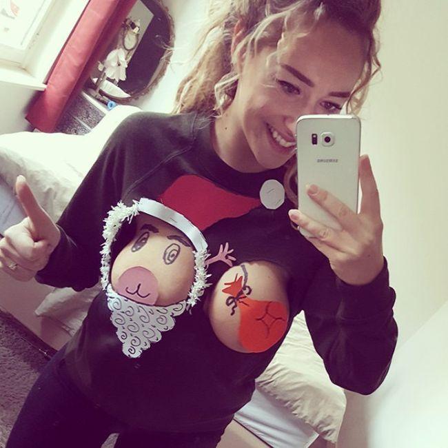 Креативный рождественский свитер (2 фото)