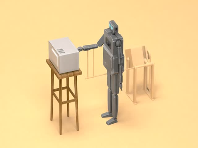 Монотонная работа роботов в короткометражке «Порочный круг»