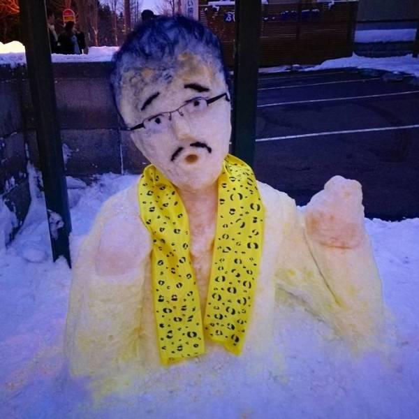 Снеговики в Японии (27 фото)