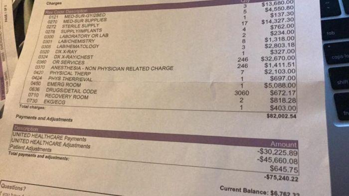 Стоимость медицинских услуг в США (3 фото)