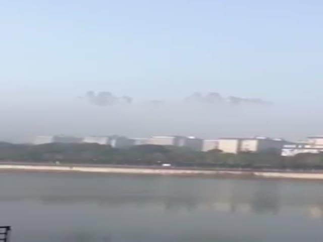 Мираж над китайским городом Юэян