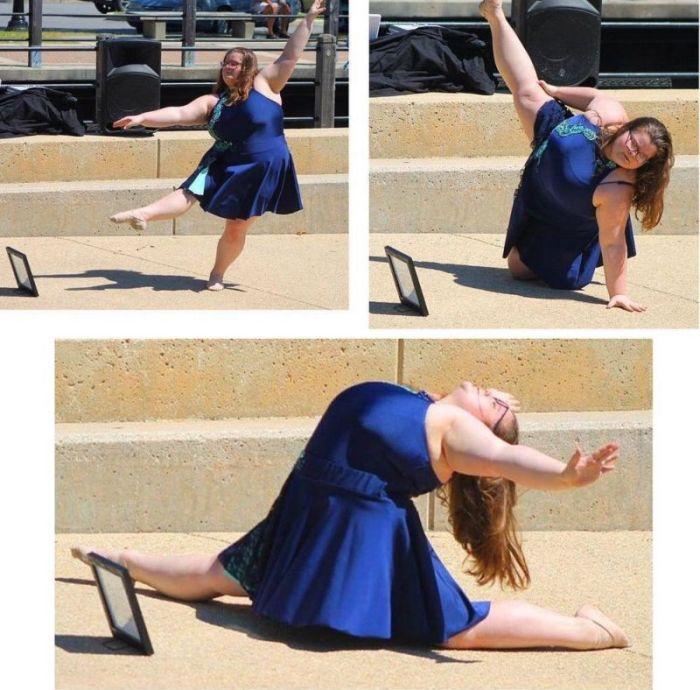 Пользователи сети поддержали 15-летнюю балерину с лишним весом (12 фото + видео)