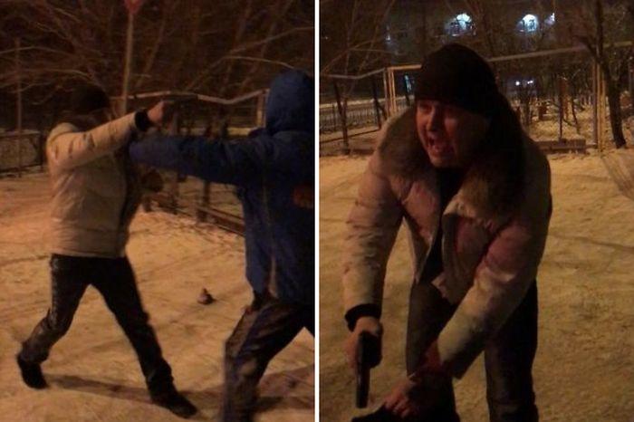 В Чите пьяные полицейские устроили массовую драку (3 фото + видео)