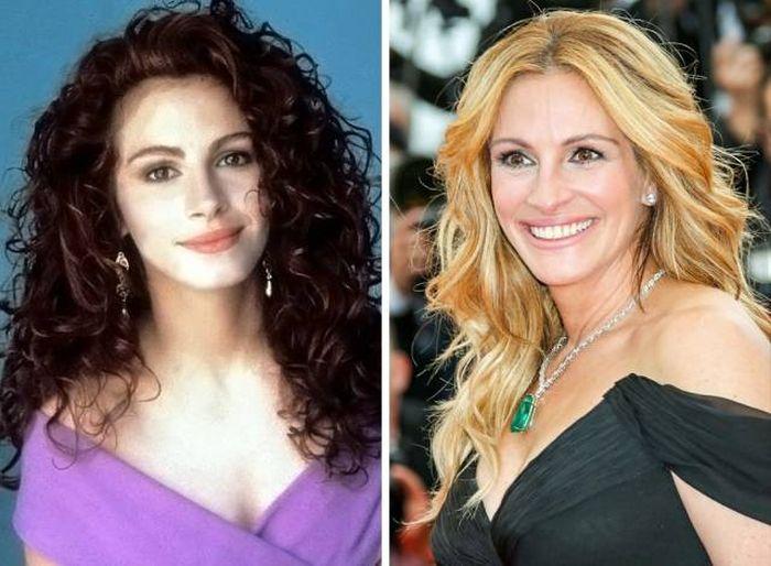 Знаменитости в 90-х и сейчас (17 фото)