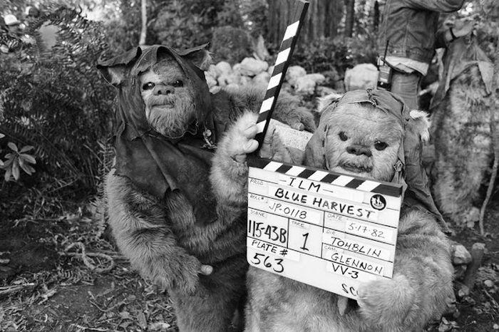 Кадры со съемочной площадки киноленты «Звездные войны. Эпизод VI: Возвращение джедая» (39 фото)