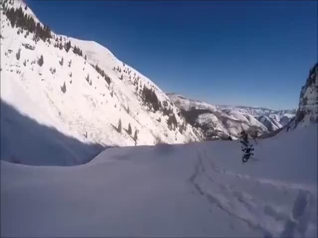 Лыжник упал с 40-метрового утеса