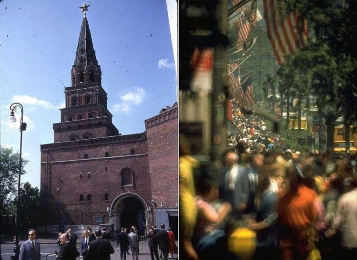 Москва и Нью-Йорк в 1969 году (33 фото)