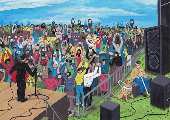 Проблемы современного общества в рисунках Брехта Ванденбрука (43 рисунка)