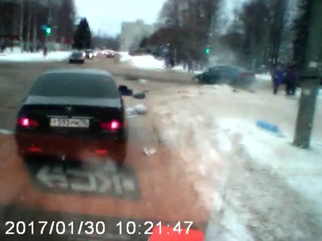 Серьезная авария в Рыбинске