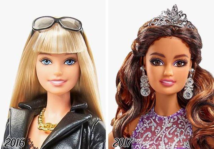 Как менялась кукла Барби в течение 58 лет (2 фото)