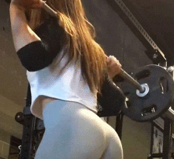 Тренировки спортивных девушек (26 гифок)