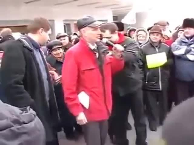 Митинг против «Единой России» в деревне Хохряки