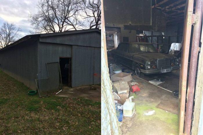 Раритетная находка в старом заброшенном гараже (8 фото)