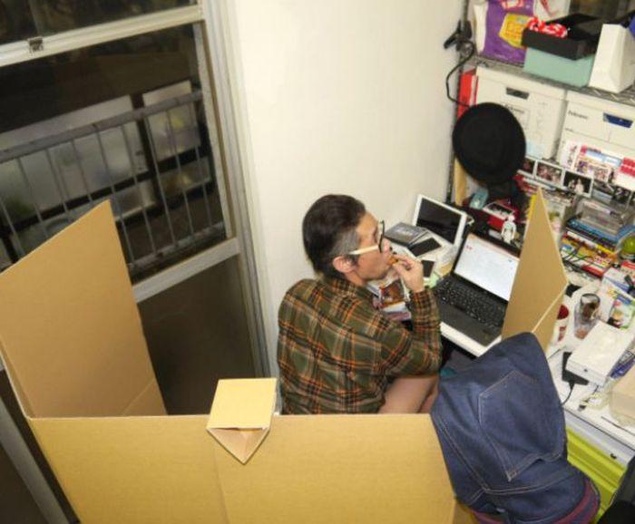 Картонный унитаз для вашего офиса (12 фото)