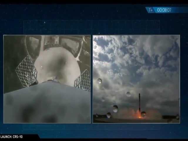 Очередная успешная посадка первой ступени ракеты-носителя Falcon 9