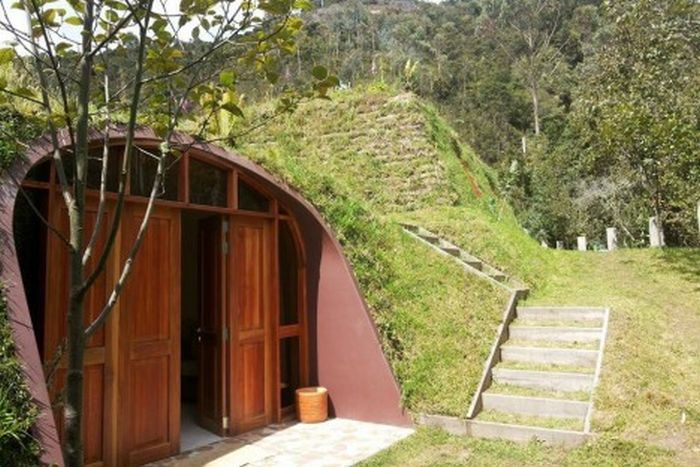 Модульные дома в стиле жилищ хоббитов (10 фото)