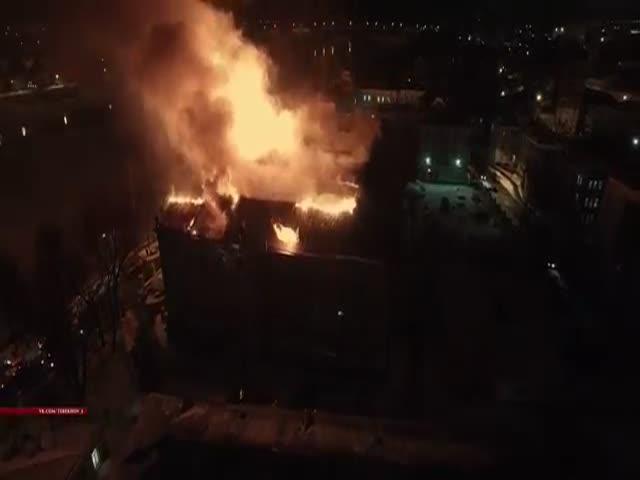 Пожар детской областной больницы в Твери