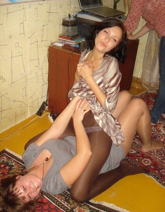 Любительское фото женщин в чулках