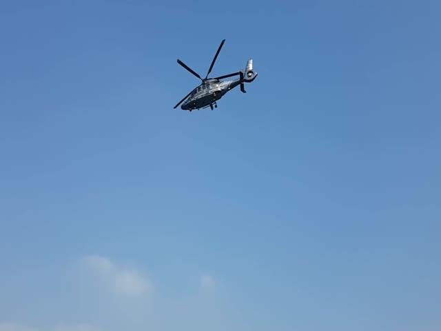 Зрелищный взлет вертолета