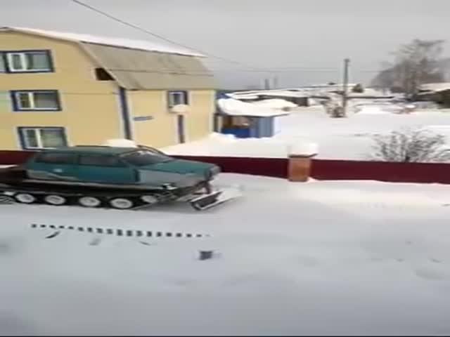 Самодельная снегоуборочная машина