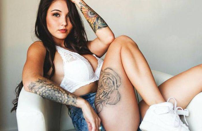 Красивые татуировки на телах девушек (57 фото)