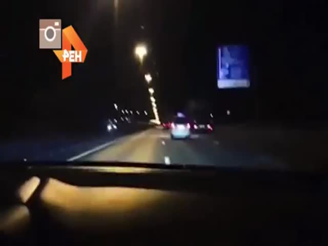 Мажор на Ferrari прокатился по Москве со скоростью свыше 240 км/ч