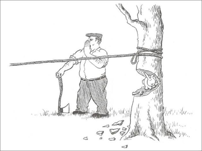 Жуткие комиксы с кроликами (20 картинок)