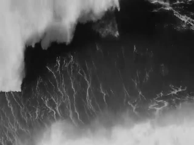 Серфер покорил гигантскую волну