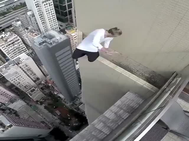 Прыжки на краю небоскреба