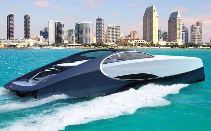 Компания Bugatti представила спортивную яхту Niniette 66 (10 фото)
