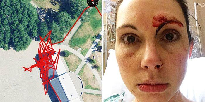В Сиэтле женщине удалось отбиться от маньяка и задержать его до приезда полиции (5 фото)