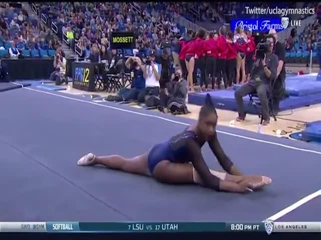 Великолепное выступление гимнастки под песню Бейонсе